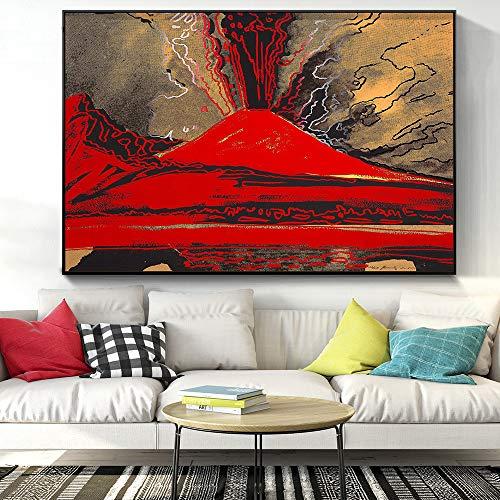yhyxll Immagini per pareti di Grandi Dimensioni di Andy Warhol Vesuvio Decorazioni per la casa Moderne Quadri su Tela Dipinti ad Olio Camera da Letto 60x90cm