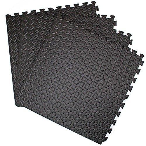 Price comparison product image Interlocking Gym Garage Anti Fatigue Flooring Play Mats 128sqft D- Easimat Brand