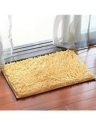 Chenilla tapetes de baño anti - resbalón Mat Mat Baño Pies absorbentes de la sala dormitorio de noche Salón Foothill Mats ( Color : F )