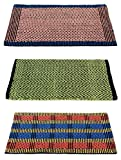 #6: Story@Home Traditional Style Eco Series Cotton Blend 3 Piece Door Mat - 16