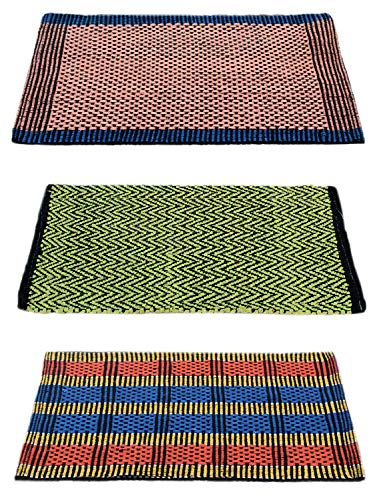 "Story@Home Traditional Style Eco Series Cotton Blend 3 Piece Door Mat - 16""x24"", Multicolor"