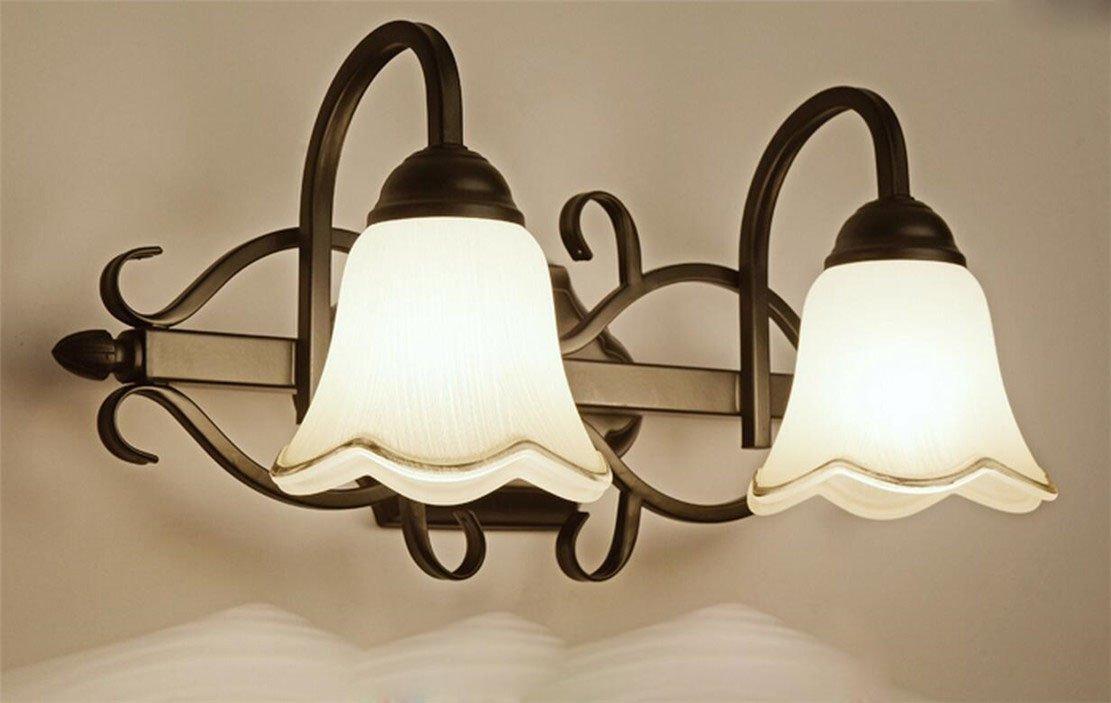 Spiegellampe Spiegelleuchte Im Landhausstil E14 Rustikal American ... | {Badlampen landhausstil 78}