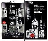 Three Sixty Geschenkset - Three Sixty Vodka 3l (37,5% Vol) + 4x Longdrinkgläser Gläser -[Enthält Sulfite]