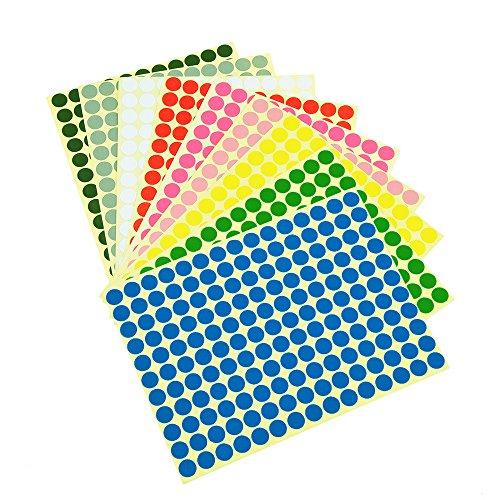 1650 Klebepunkte - 10 unterschiedliche Farben