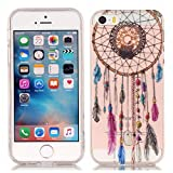 Cozy Hut iPhone SE 5 5S Hülle,iPhone SE 5 5S Case [Scratch-Resistant] Campanula Farbe Design Malerei Silikon Hülle/Schutzhülle / Cover für iPhone SE 5 5S, TPU Clear Transparent Protective ba