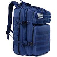 LHI Sac à dos militaire tactique multifonctionnel, sac à dos grande capacité 45 litres pour homme et femme, trekking en…
