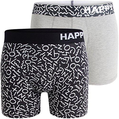 Happy Shorts 2er Set Boxershorts Herren / Retroshorts – Modell: - Herren Boxershorts Lustig