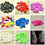 Qiao Niuniu New 20Pcs/Lot Colorful Soft Pet Dog Cats Kitten Paw Claws Control Nail Caps Cover #apowu522# (color: Red… 15