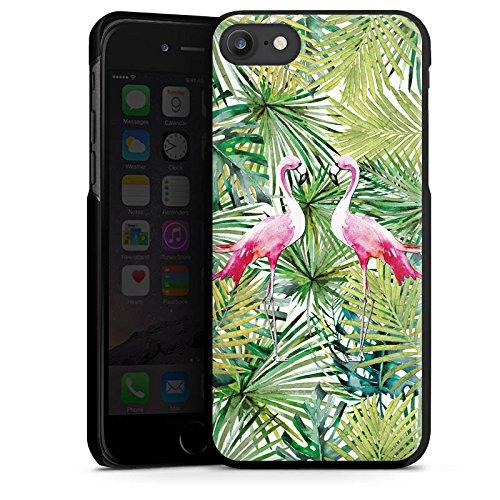 Apple iPhone X Silikon Hülle Case Schutzhülle Flamingo Palmenblätter Sommer Hard Case schwarz