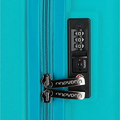 Movom Wood 5319167 Equipaje de Mano, 55 cm, 43 Litros, Azul