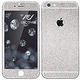 Urcover Apple iPhone 7 Glitzer-Folie zum Aufkleben | Folie in Silber | Zubehör Glitzerhülle Handyskin Diamond Funkeln Schutzfolie Handy-schutz Luxus Bling Glamourös