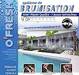 O'Fresh 063 - Nebulizzatore da terrazzo con 7 ugelli, 10 m