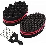 Nsiwem 2pcs Eponge Twist Curl Brosse à Cheveux éponge Eponge locks Eponge Afro Twist Cheveux Curl Brosse Eponge Twist pour Ch