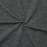 Sweatshirt Baumwollstoff French Terry Meterware Dunkel-Grau