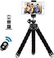 Treppiedi cellulare, cavalletto per iphone flessibile, Treppiedi Fotocamera Bluetooth Universale per Smartphone/Fotocamera R