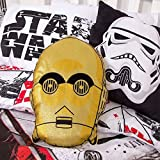 Star Wars Episode 8 C-3PO Design geformtes Kissen Kissen, Polyester-, Gold, 42 x 32 x 5 cm