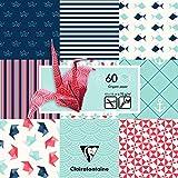 Clairefontaine 95319C Origami Paquet de 60 Feuilles 15,5x15,5 cm...