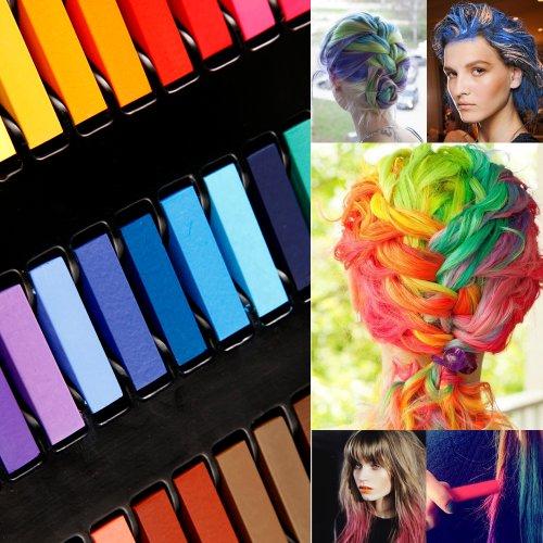 Haarkreide-Set mit 36 Farben für den Heimgebrauch, ungiftig, auswaschbar, Pastellfarben - 4