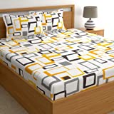 Home Ecstasy 100% Cotton Double bedsheets with 2 Pillow Covers Cotton, 140tc Geometric Multi bedsheets for Double Bed Cotton