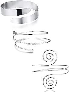 YADOCA 3 Pezzi Braccio Polsino Braccio Regolabile Turbolenza Boho Bracciale Bangle Bracciale Gioielli Polsino Bracciale Superiore Bracciali Bracciale Gioielli Corpo