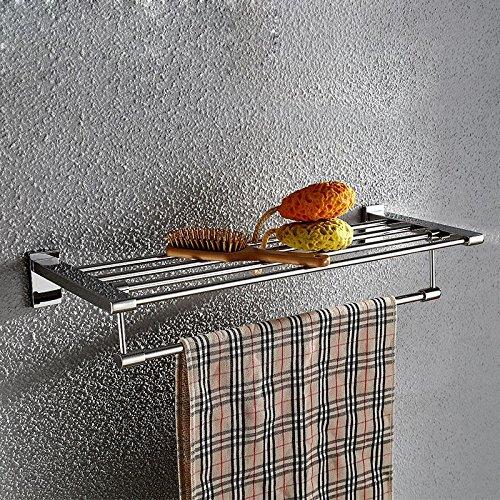 ZHGI Moda in acciaio inossidabile Portasalviette mensola per bagno (Peltro Spazzolato Due Luce)