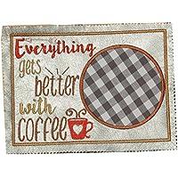 Mug Rug Kaffee, Tassenläufer,Tassenteppich,Geschenk