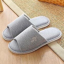ZZHF Chaussons de coton à domicile Four Seasons Couples Chaussons d'intérieur antidérapant silencieux et silencieux pour femmes Chaussons de plafond (5 couleurs en option) (taille facultative) chaussons ( Couleur : D , taille : 4445(42-43) )