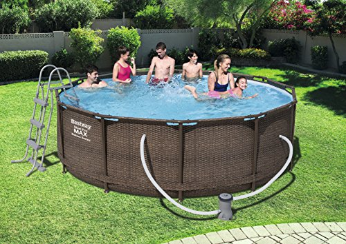 Bestway Steel Pro MAX DELUXE SERIES Pool Set 366x100cm  Stahlrahmenpool-Set mit Filterpumpe und Zubehör