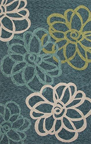 Jaipur Rugs Floral Pattern Indoor/Outdoor Rug, Blue/Green, 2' x 3' by Jaipur Rugs (Jaipur Rugs)