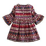 LOLIAN Kleinkind Kleid Outfits Kleidung Mädchen Junge Unsexy Baumwollmischung und Herbst und Winter Bowknot Taufkleid Blumenmädchenkleider Hochzeit Festlich Kleid Party Kleinkind