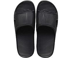 JoWebb Unisex Slip On Slippers for Women/Men Non-Slip Light Weight Flat Slide Sandals Shower Sandals House Soft Flip Flop Sho