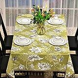 CCILOVE Mantel rectangular de estilo moderno minimalista paño,amarillo borla,110*170cm