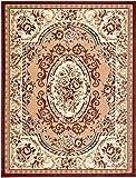 Teppich Klassisch Gemustert Orient Ornamente Oval Muster in Beige (300x400 cm)