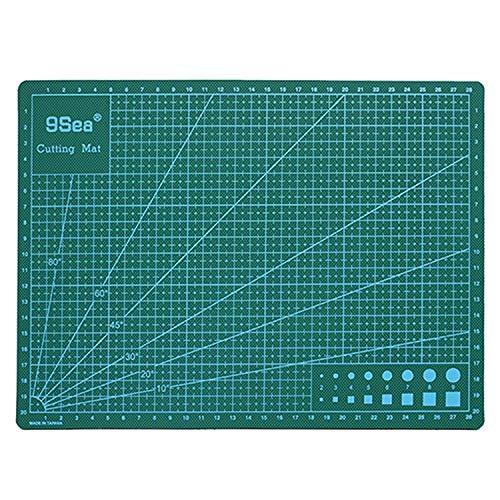 Xiaochou@sl Tappetino da taglio, materiale in PVC, tappetino da taglio e righello, coltello per incisione, dimensioni: 45 * 30 cm.