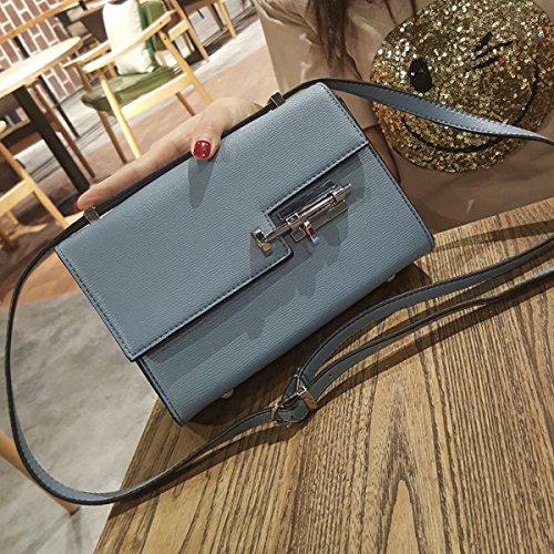 fashion Flow Lock kleine quadratische tasche Schulter diagonale Weibliche paket Blau
