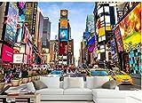 Yosot Carta Da Parati 3D New York Modern Street View Architettura Times Square Tv Sfondo Foto 3D Carta Da Parati-450cmx300cm
