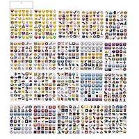 PartyErasers 20 Sheets Jumbo Pack Fun Emoji Stickers (960 stickers)