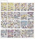 PartyErasers 20 Blatt Jumbo-Pack Emoji-Aufkleber (960 Aufkleber)