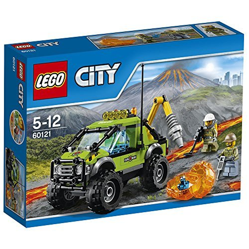 LEGO 60121 City In/Out Volcano Exploration Truck Construction Set by LEGO