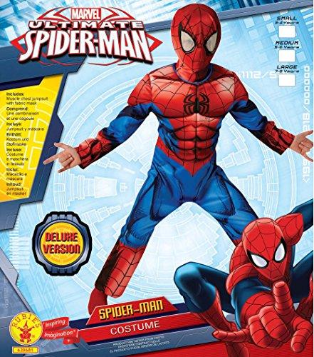 Imagen de spider man deluxe último clásico  disfraz infantil  medio  116cm  edad 5 6 alternativa