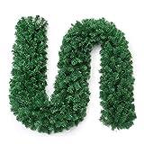 Mamum Syntetisch Pflanzen Girlande Lebt Türkranz Ornament Kranz für die Wanddekoration Treppen, Kamine und Unternehmen bis: 270 * 25cm/b: 200 * 25cm Mehrfarben