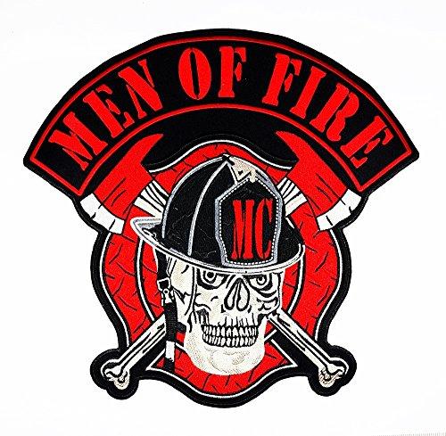 Fire Fighter Department Rescue Skull Ghost Bone Axe Kreuz MC Patch für DIY Bone Ghost Hog Outlaw Hot Rod Motorräder Rider Lady Biker Jacket T Shirt Patch Sew Iron on gesticktes Badge Schild Kostüm (Fire Fighter Kostüme)