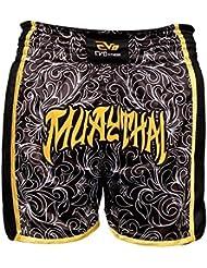 EVO Muay Thai Short De Combat MMA Kick Boxing Grappling Arts Martiaux Rouage UFC Hommes