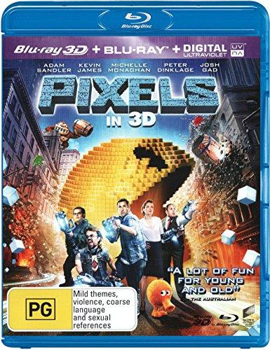 Pixels (3D Blu-ray/Blu-ray/UV)