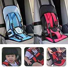 Divinezon Baby's Multifunction Adjustable Car Cushion Seat with Safety Belt (Multicolour, dvz_Multifunction-baby-car-cusion)