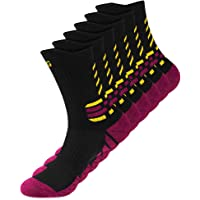 Cushioned Athletic Socks for Men Women, Comfortable, Ankle-support Crew Sports Sock for Basketball Football Hiking…