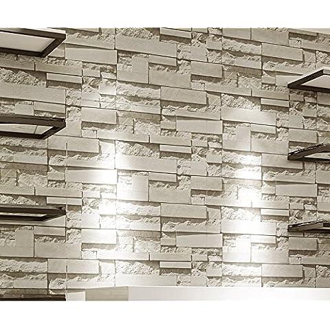 Lujo piedra ladrillo pared vinilo 10m rollo de papel pintado para la pared papel de parede 3d salón fondo PARED decoración arte papel para
