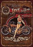 Forry Harley Davidson Heritage Métal Mur Affiche Vintage Plaque Étain Signe Rétro Décorer Artisanat pour Café Bar Garage Salon Chambre