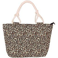 LUXIAO Bolso de gran capacidad para la impresión de moda femenina, bolso (Leopardo)