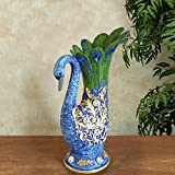 #7: Tied Ribbons Peacock shape Flower Vase Pot (Multicolor, Resin)